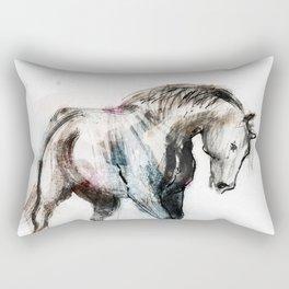 Young horse trotting Rectangular Pillow