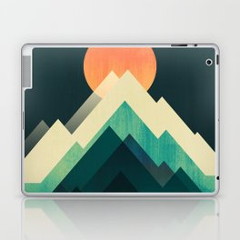 Ablaze on cold mountain Laptop & iPad Skin