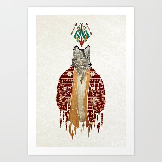 mr wolf Art Print