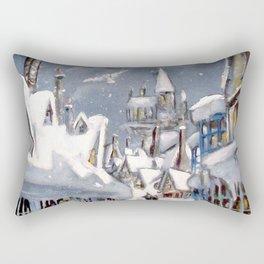Snowy Hogsmeade Rectangular Pillow
