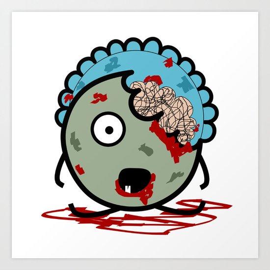 Baby Zombie Art Print