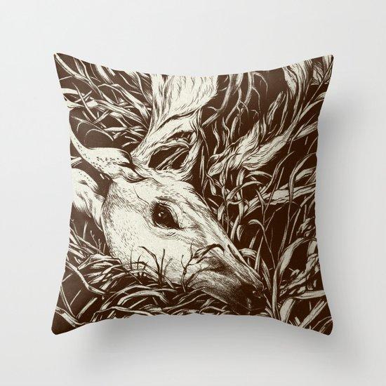 doe-eyed Throw Pillow