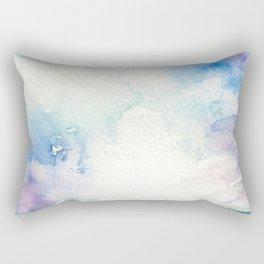 Colored Sky Watercolor Painting Rectangular Pillow