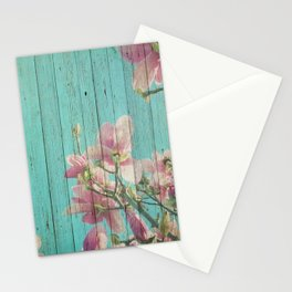 Sweet Flowers on Wood 08 Stationery Cards