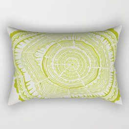 Lime Tree Rings Rectangular Pillow