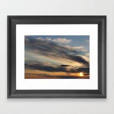 Sunset Over Lake Michigan Framed Art Print