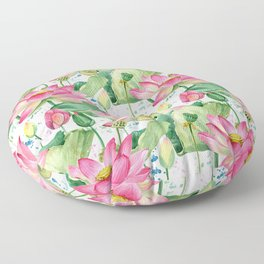 lotus flowers Floor Pillow