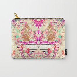 Flowers Mix Vintage Patchwork Carry-All Pouch