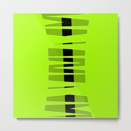 Lime Time Racing Stripe Metal Print