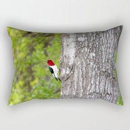 Red-headed Woodpecker Rectangular Pillow