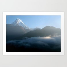 Mountains at Sunrise Poon Hill Art Print