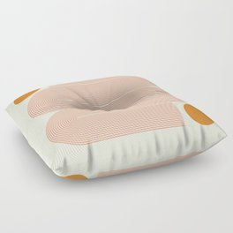 Abstraction_SUN_LINE_ART_Minimalism_002 Floor Pillow