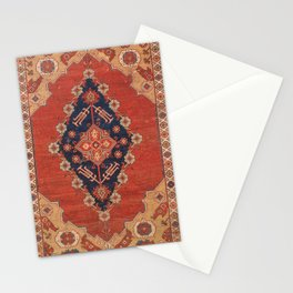 Southwest Tuscan Shapes II // 18th Century Aged Dark Blue Redish Yellow Colorful Ornate Rug Pattern Stationery Cards