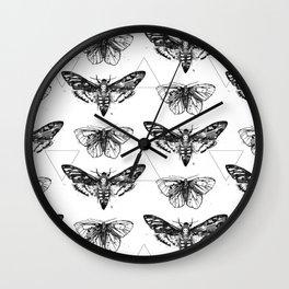Geometric Moths Wall Clock