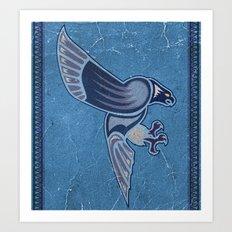 Aboriginal Hawk Wings Attack Art Print