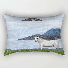 The white horse Rectangular Pillow