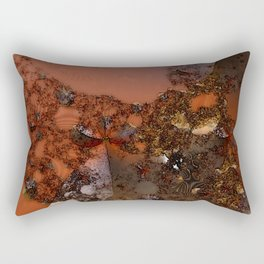 Study of textures and terra cotta Rectangular Pillow