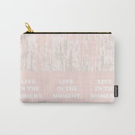 Live-in-the-moment. My backgrounds collage, pink, pastel, gradient, pattern, art, decor, Society6 Carry-All Pouch
