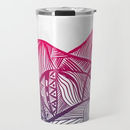 Lines in the mountains 05 Travel Mug