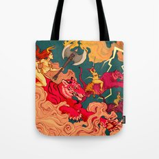 The Conquering of Man Tote Bag