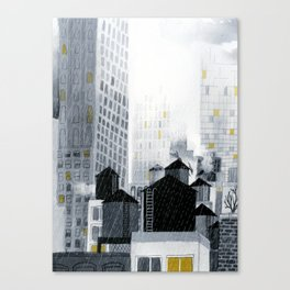 Rainy New York City Canvas Print