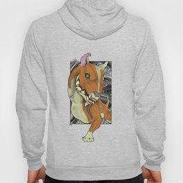 Neo traditional tattoo-style English Bull Terrier Hoody
