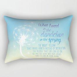A Dandelion in the Spring Rectangular Pillow