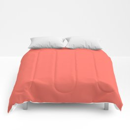 Solid Color Pantone Color of the Year Living Coral 16-1546 Comforters