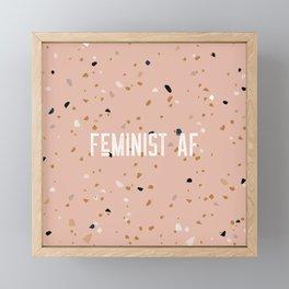 Feminist AF - Pink Framed Mini Art Print