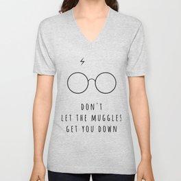 Don't Let The Muggles Get You Down Unisex V-Neck
