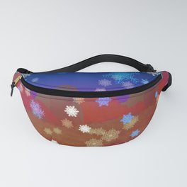 Mountains and Snowflakes Fanny Pack