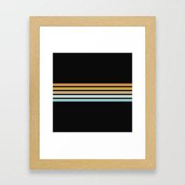 Retro Sunshine Stripes Framed Art Print