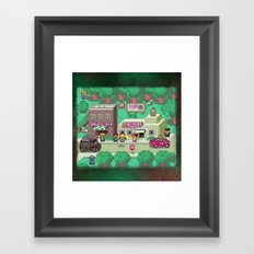 Earthbound town Framed Art Print