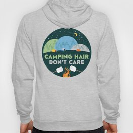Camping Hair Don't Care Green Nature Outdoor Tent Hoody