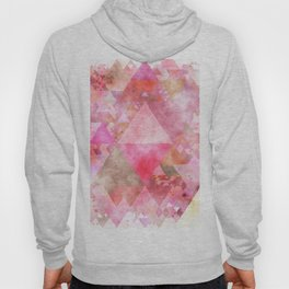 Pink triangles - Abstract elegant watercolor pattern Hoody