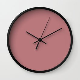 Dusty Rose Wall Clock