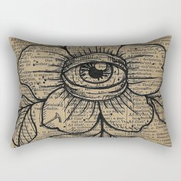 Flower with Eye: Beauty is in the Eye... Rectangular Pillow
