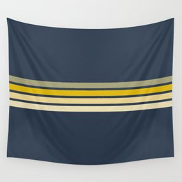 Racing Retro Stripes Wall Tapestry
