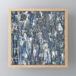 Abstract blue 2 Framed Mini Art Print