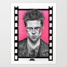 Who Is Tyler Durden? Art Print