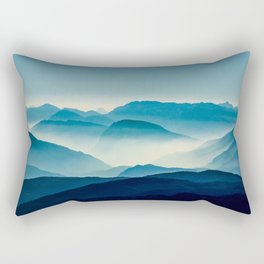 Blue Morning Fog Rectangular Pillow
