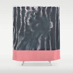 Faux Dye Pink Shower Curtain