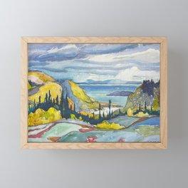 Canadian Landscape Watercolor Painting Franklin Carmichael Art Nouveau Framed Mini Art Print