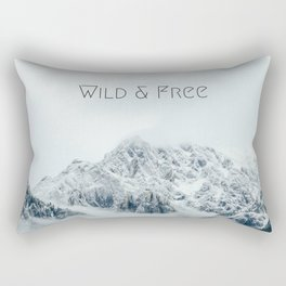 Wild and Free Mountains Rectangular Pillow