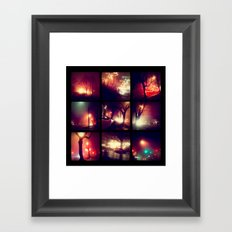 City Night Lights Framed Art Print