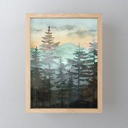 Pine Trees Framed Mini Art Print