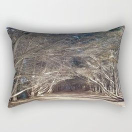 The Woods Hold Both the Light and the Darkness Rectangular Pillow