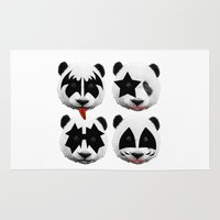 kiss Area & Throw Rugs featuring kiss by mark ashkenazi