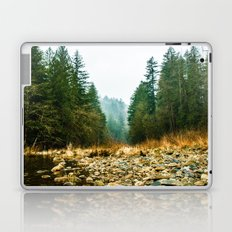 Green Forest Mountain Lake Water - Green Trees and Sky Laptop & iPad Skin