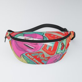 Not Real Art on a Popsicle Stick Fanny Pack